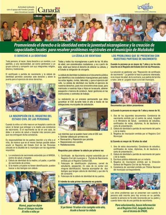 Afiche sobre gestión de documentos de identidad